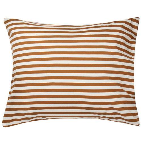 Marimekko Tasaraita tyynyliina,  luonnonvalkoinen - ruskea