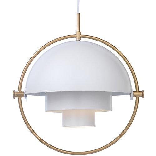 Gubi Multi-Lite pendant, brass - white