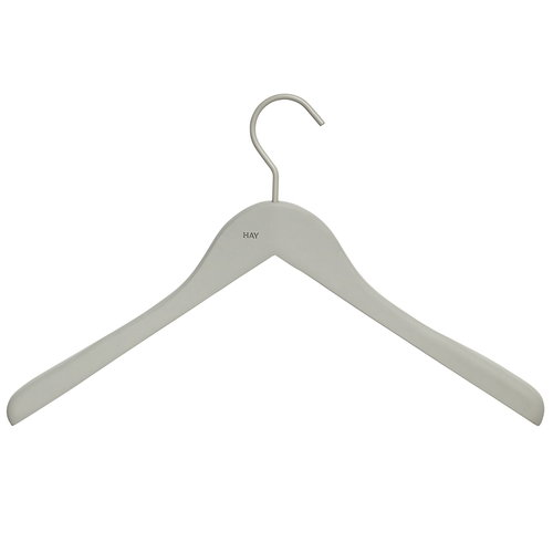 Hay Soft coat hanger wide, grey, 4 pcs