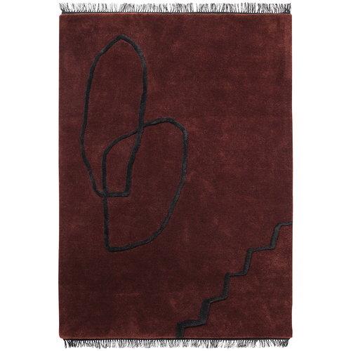 Ferm Living Desert tufted rug, red brown