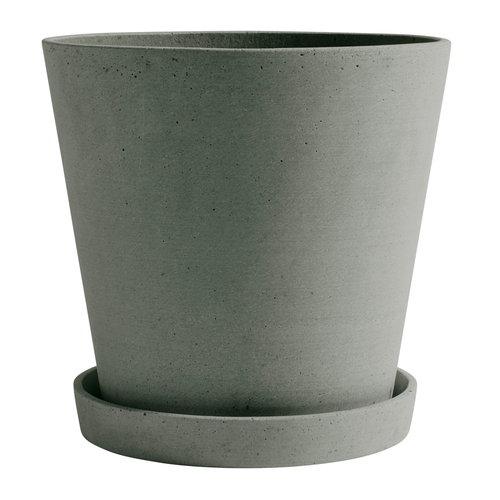 Hay Flowerpot and saucer, XXL, green