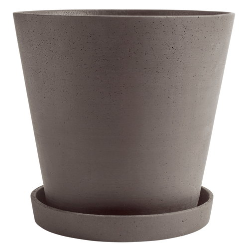 Hay Flowerpot and saucer, XXXL, plum