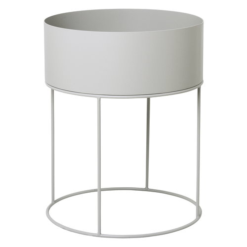 Ferm Living Plant Box, round, light grey