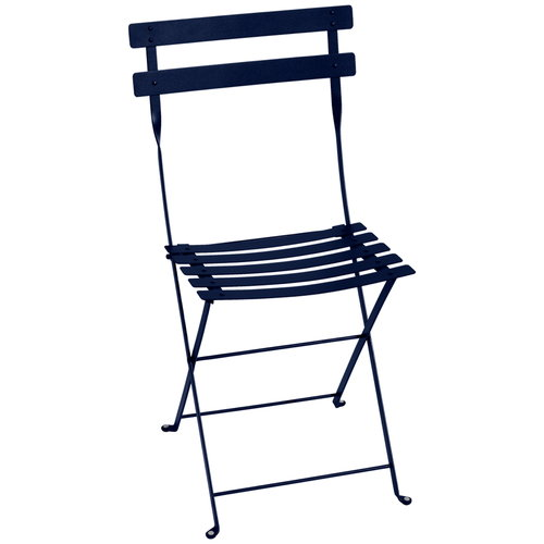 Fermob Bistro metal chair, deep blue