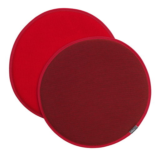 Vitra Seat Dot istuintyyny, tummanpunainen - punainen