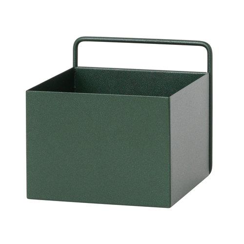 Ferm Living Wall Box, quadrato, verde scuro