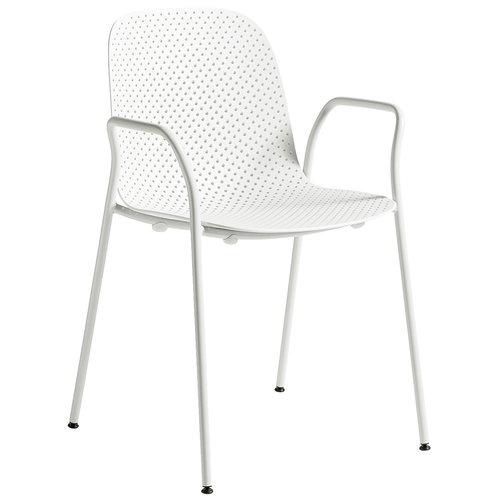 Hay 13Eighty k�sinojallinen tuoli, harmaanvalkoinen - kalkki
