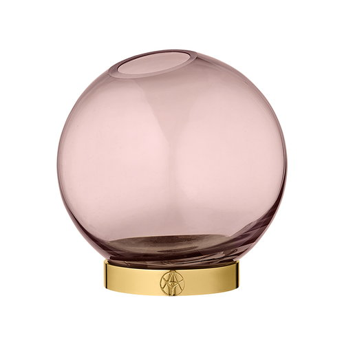 AYTM Globe maljakko, pieni, roosa - kulta