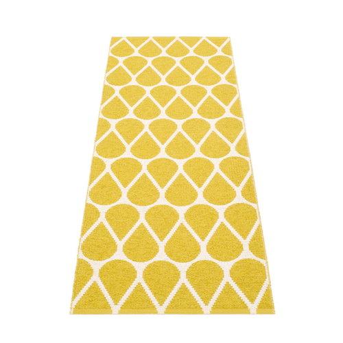 Pappelina Otis rug 70 x 200 cm, mustard - vanilla