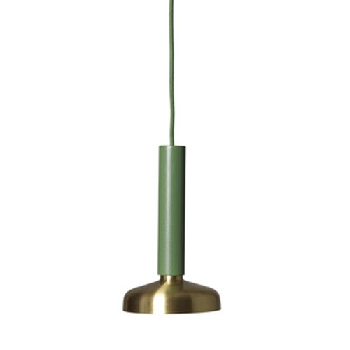 Pholc Blend pendant, green-brass