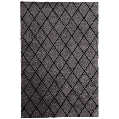 VM Carpet Salmiakki matto, harmaa - musta