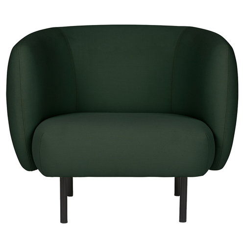 Warm Nordic Cape lounge chair, forest green
