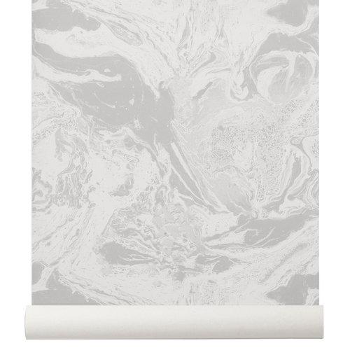Ferm Living Marbling tapetti, beige