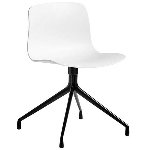 Hay About A Chair AAC10 tuoli, valkoinen istuin, musta jalka