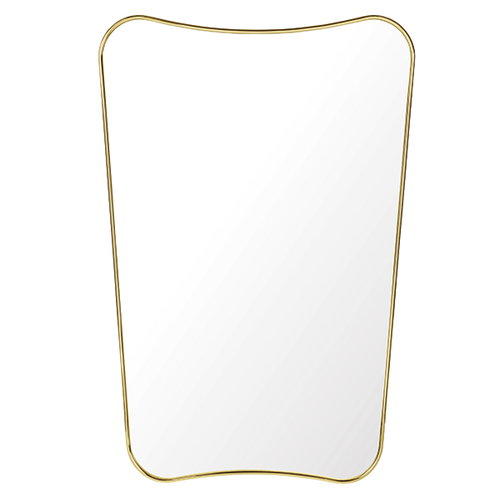 Gubi F.A. 33 mirror, small, polished brass