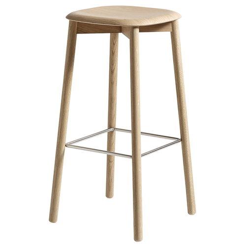 Hay Soft Edge 32 bar stool, matt lacquered oak