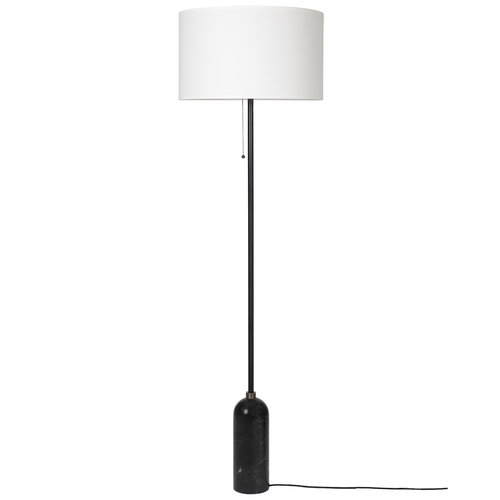 Gubi Gravity floor lamp, black marble