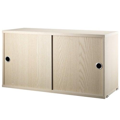 String String cabinet, 78 x 30 cm, ash