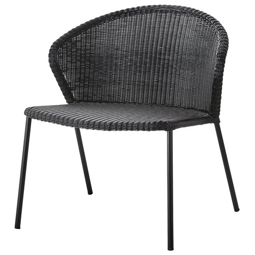 Cane-line Lean lounge chair, black
