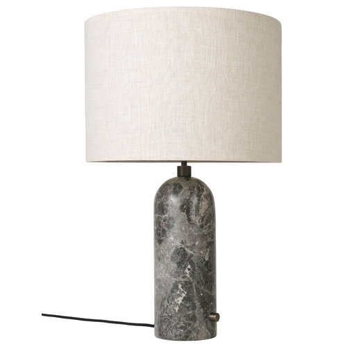 Gubi Gravity table lamp, large, grey marble
