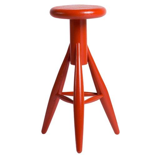Artek Rocket bar stool, jolly red