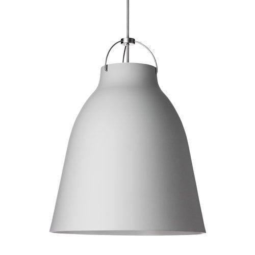 Lightyears Caravaggio P3 pendant, matt light grey, 6 m cord
