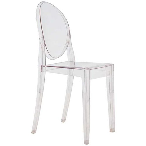 Kartell Victoria Ghost chair, clear
