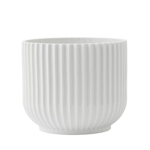 Lyngby Porcelain Kukkaruukku, keskikokoinen, valkoinen