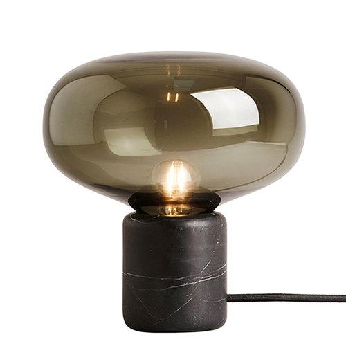 New Works Karl-Johan table lamp, black marble