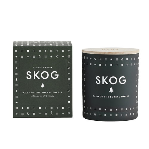 Skandinavisk Scented candle with lid, SKOG