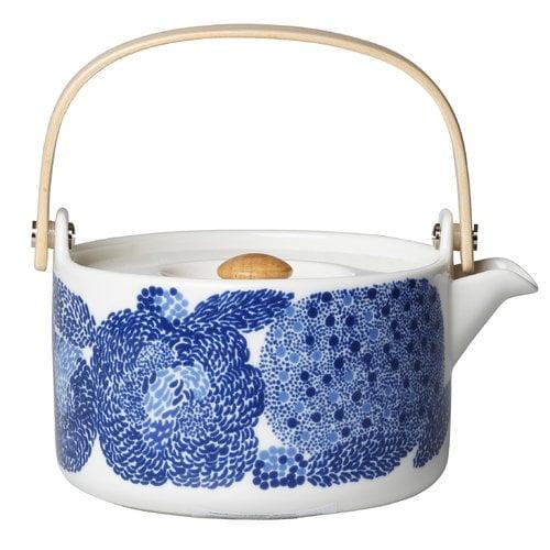 Marimekko Oiva - Mynsteri teekannu, sininen - valkoinen