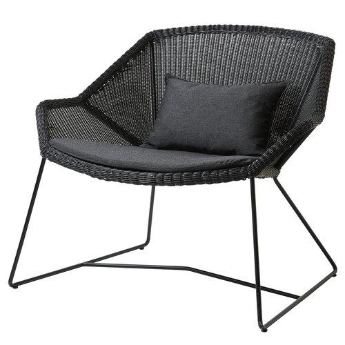 Cane-line Istuintyyny Breeze nojatuoliin, musta