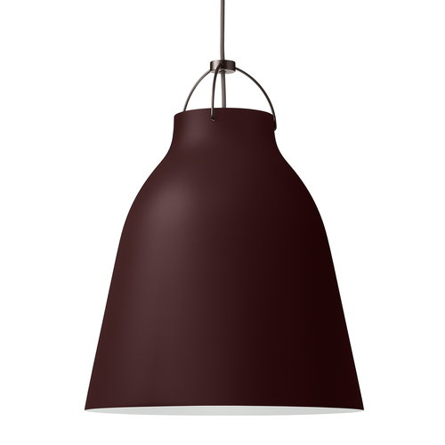 Lightyears Caravaggio P3 pendant, dark sienna, 6 m cord