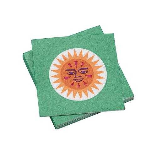 Vitra La Fonda Sun paperiservetti, vihre� - keltainen