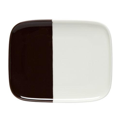 Marimekko Piatto Oiva - Puolikas 15 x 12 cm, bianco naturale - marrone