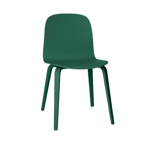 Muuto Visu chair, wood frame, dark green