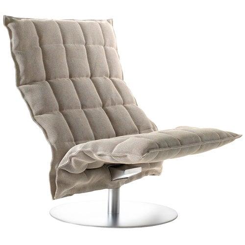 Woodnotes K tuoli, pyörivä, leveä, kitti/musta
