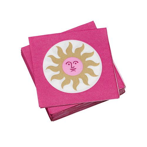 Vitra La Fonda Sun paperiservetti, pinkki - kulta