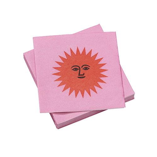 Vitra La Fonda Sun paperiservetti, pinkki - oranssi