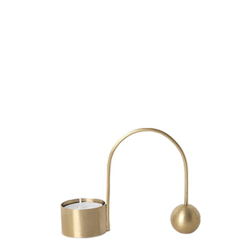 Ferm Living Balance tealight holder, brass