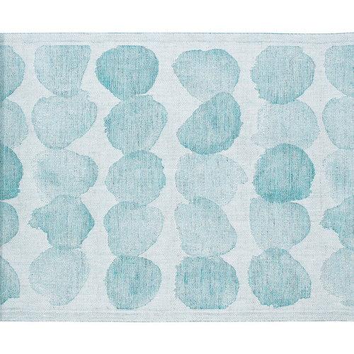 Lapuan Kankurit Sade laudeliina 46 x 150 cm, valkoinen-turkoosi