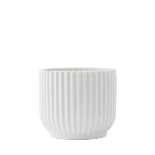 Lyngby Porcelain Flower pot, small, white