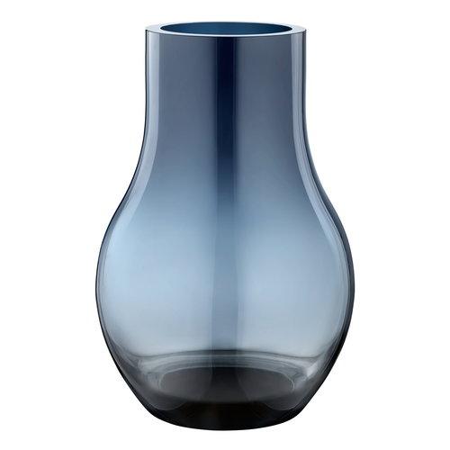 Georg Jensen Cafu vase M, blue glass