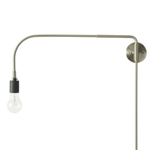 Menu Tribeca Warren wall lamp, brushed steel