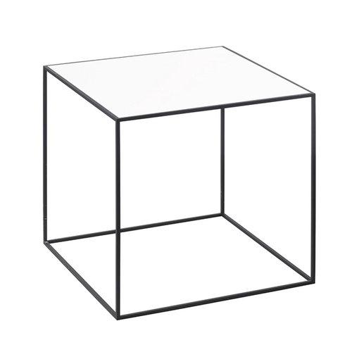 By Lassen Twin 35 table, white/oak