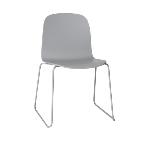 Muuto Visu chair, steel frame, grey