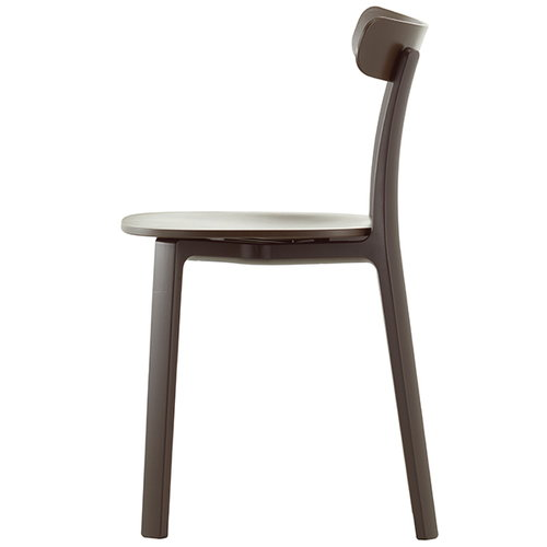 Vitra All Plastic Chair, ruskea