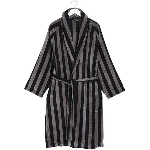 Marimekko Nimikko Mikko bathrobe, black - grey