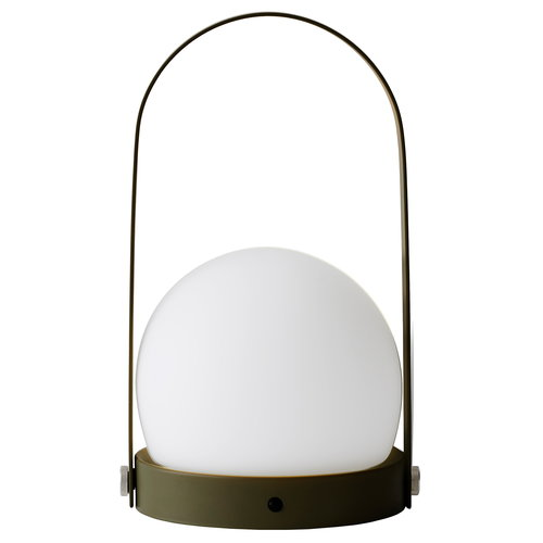 Menu Carrie LED table lamp, olive
