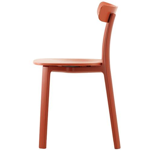 Vitra All Plastic Chair, tiilenpunainen